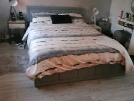 King size modern bed frame