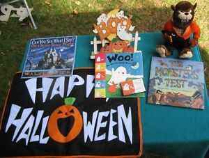 Hallowe'en books and Decorations
