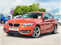 2017 BMW 2 Series Bmw 2 Coupe 218d 2.0 Sport 2dr 18inAlloys Coupe Diesel Manual
