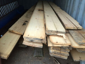 fresh sawn/ripped barn boards from beams and sleepers