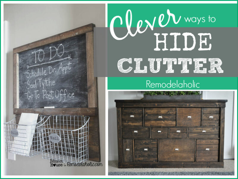 How To Hide Household Clutter