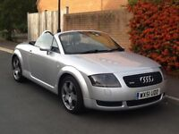 Audi TT 1.8T Convertable, Roadster Quattro, 180 BHP. Refurbished alloy wheels.