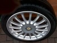 MG 17 inch Alloy 4 stud Wheels set of 4