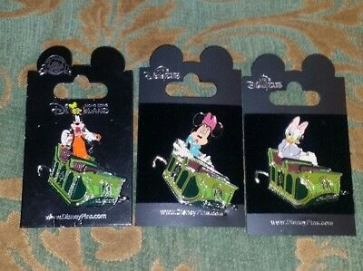 Disneyland Hong Kong HKDL 3 Mystic Manor Ride Connector Pins Goofy Minnie Daisy