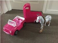 Immaculate Steffi horse with car and trailer