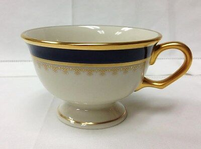 """PICKARD """"WASHINGTON"""" FOOTED TEACUP 2 1/2"""" IVORY PORCELAIN NEW MADE IN U.S.A."""