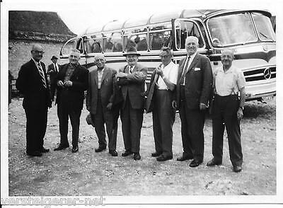 3 Originalfotos Bus, Autobus, Mercedes, Omnibus 1961 Reutlingen , RT-A878