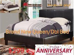 Anniversary Sale-Brand New Leather QN/DB Bed Frame on Sale@New Direction Home Furnishings