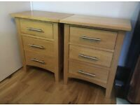 Solid oak bedside cabinets excellent quality, fully solid oak W-51, H-61 and D-40cm