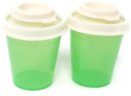 Tupperware Mini Salt and Pepper Shakers  Midgets Flip Top 2 oz. Light Green NEW
