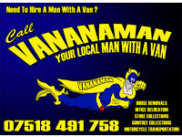 HIRE A MAN WITH A VAN FOR HOUSE REMOVAL STORE COLLECTIONS OFFICE REMOVALS MOTORCYCLE RECOVERY SOFA
