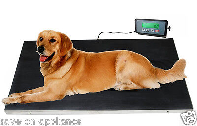 - Large 660lb STAINLESS STEEL Dog Digital Pet Scale Veterinary Animal Weight Vet