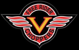 V Free Choppers Rider XL ecusson brodé patche Thermocollant iron-on patch - Poznan, Polska - Zwroty są przyjmowane - Poznan, Polska