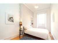 Choice of rooms in large, light, quiet & carefully modernised ground floor garden flat near Meadows