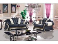 VERSACE SOFA / GUCCI / CHANNEL / PENDRAGON FULL ITALIAN LEATHER SOFA SETS L@@K THESE!