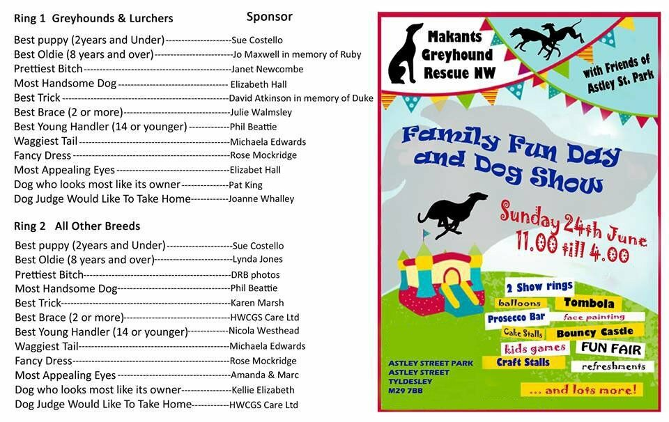 Dog Show charity event Tyldesley