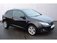 2010 SEAT IBIZA 1.4 BLACK, FULL SERVICE HISTORY, MOT 12 MONTHS, MILEAGE 55000, HPI CLEAR