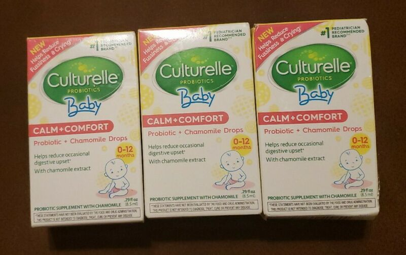 Culturelle baby probiotic supplement with chamomile calm & comfort 0-12 months