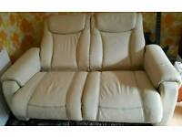 White/cream gplan reclining sofa