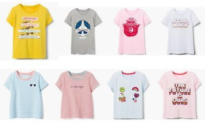 NEW Gymboree girls BACK TO SCHOOL short sleeve tee size 3 4 5 6 7 8 YOU PICK - School Girl Clothing