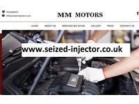seized broken stuck Injector removal extraction vivaro transit trafic mercedes Land rover fiat VW