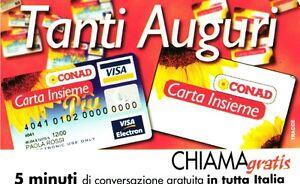 1285 G CG 6 SCHEDA TELEFONICA NUOVA CHIAMAGRATIS CONAD COME FOTO - Italia - L'oggetto può essere restituito - Italia