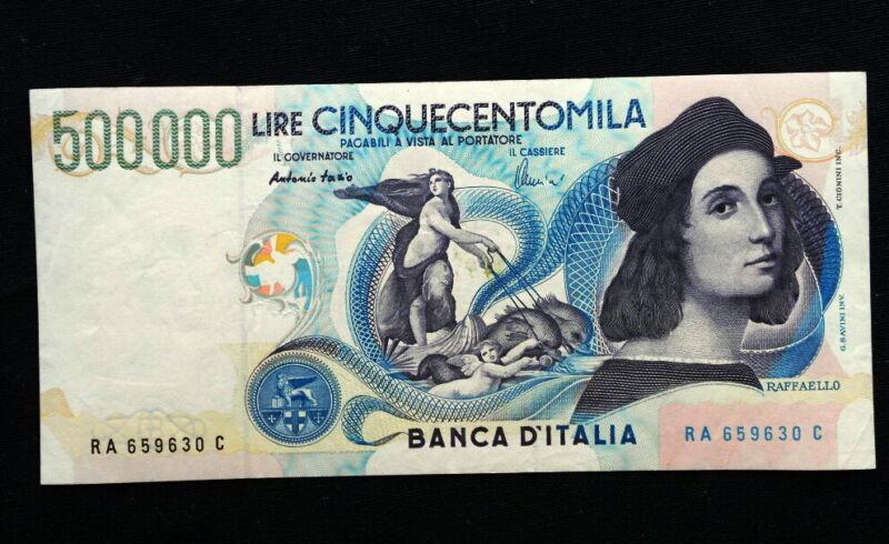 1997 ITALY rare Banknote 500000 RAFFAELLO XF/aUNC high quality