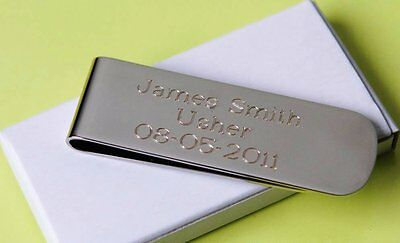 8 personalized money clips best man gift groomsman gift free custom engraving (Custom Money Clips)