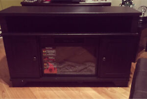 Fireplace tv stand.
