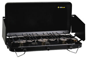 OZTRAIL 3 BURNER GAS CAMPING PORTABLE STOVE COOKER