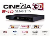 LG 3d smart blu ray player BP325 + 1 blu ray & 53 dvd movies for your home cinema