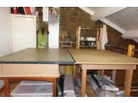 Pattern Making High Table; Suitable in workshops for different design or artistic uses (2 Available)