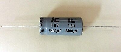 3300uf 16v Axial Electrolytic Capacitors 5 Pieces New Fast Usa Shipping