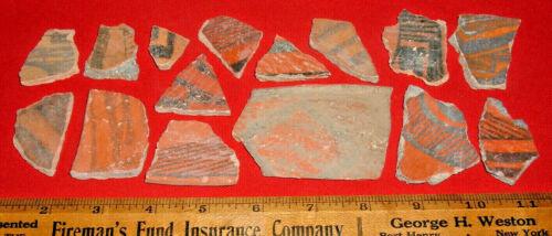(15) Anasazi Red Ware Pot Shards, St. John