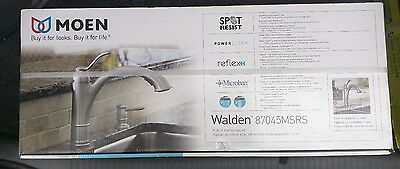 NEW MOEN Walden 1-Handle Pull-Out Sprayer Kitchen Faucet W/ Microban Protection