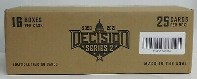 2020-21 LEAF DECISION SERIES 2 TRADING CARDS CASE (16 Boxes) - NEW / SEALED