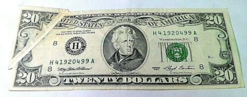 ERROR 1993 $20 Federal Reserve Note - WASHINGTON D.C.  Currency