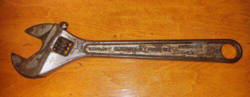 "VINTAGE CRESCENT Tool 12""CRESTOLOY Forged STEEL Adjustable Wrench Jamestown N.Y."
