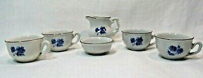 Kahla German Democratic Republic 6 Piece Porcelain Mini Tea Set Blue Floral for sale  Bishop