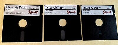Draft & Print for DOS Systems - 3 Floppy Disks Spirit of Discovery 1991