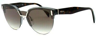 Prada Damen Sonnenbrille PR04US VIP-0A7 silber havana grau verspiegelt 178 54