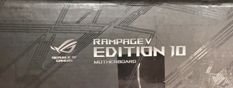 Asus Rampage V Edition 10 and Intel i7 6850k combo