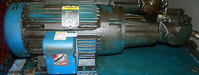 7.5 HP Parker Hydraulic Pump PVP1636R12, & Baldor Motor 230/460V, Used
