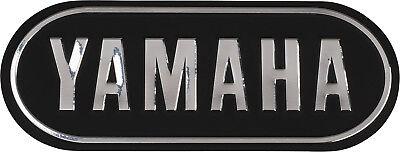YAMAHA 3D Emblem Badge DECAL BLACK & SILVER 132x52mm; Self Adhesive B-086 for sale  Abilene