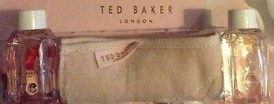 Ted Baker Blush Pink & Pretty Pearl Bath Foam 50ml Each & Cotton Face Cloth