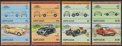 1985 St. Lucia SC# 739-742 - Automobile Type of 1983 -  Pairs - M-NH -1