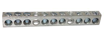 Nsi 4-14 11 Holes 9 Circuits Aluminum Neutral Bar 4-14 Awg