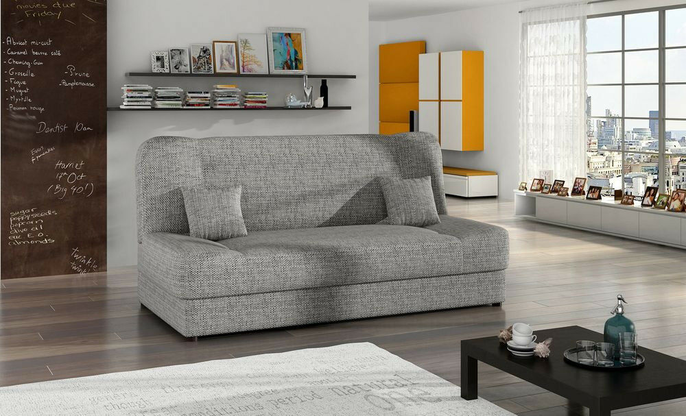 Bargain Sofa Bed Jonas Storage Container Sinous Springs Grey New