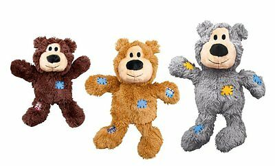 KONG Wild Knots Squeaker Bear for Dogs, Small/Medium, Colors