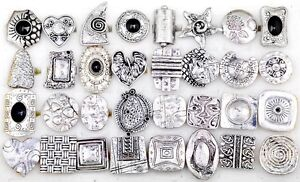 Wholesale Jewellery Lots 10pcs Tibet Silver P Vintage Cocktail Party Rings Bulk